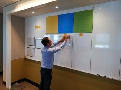 Simelius Business Improvement maakt dagstart borden, projectborden, agile kanban en scrumborden, portfoliowalls en Obeya rooms volledig op maat.