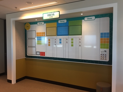 Visueel management in de vorm van een verbeterbord gemaakt door Simelius Business Improvement Change, Lean, Agile